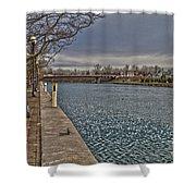 Seneca Falls Waterfront Shower Curtain