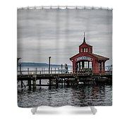 Seneca Lake Pier Shower Curtain