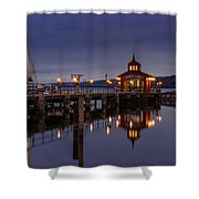 Seneca Lake Reflection Shower Curtain