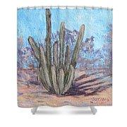 Senita Cactus Shower Curtain