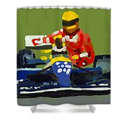 Senna And Mansell Shower Curtain