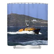 Sennen Cove Lifeboat Shower Curtain