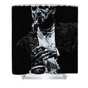 Sensational Sax Shower Curtain by Richard Young