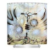 Sensorial Paroxysm Shower Curtain by Casey Kotas