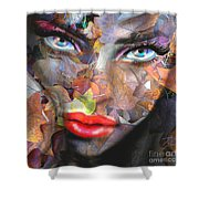 Sensual Eyes Autumn Shower Curtain