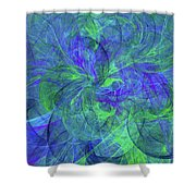 Sentimental Nature Abstract Shower Curtain