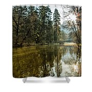 Sentinel Bridge And Half Dome In Morning Light Shower Curtain