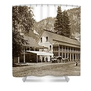 Sentinel Hotel And Ivy And River Cottages Circa 1895 Shower Curtain