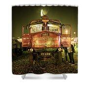 Sentinel Steam Bus By Night  Shower Curtain