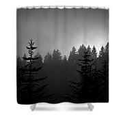 Sentinels In The Mist Shower Curtain