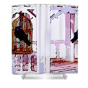 Separate Lives Shower Curtain