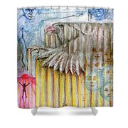 Separate Reality 3 Shower Curtain