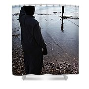 Separate  Yet Lives Together  Shower Curtain