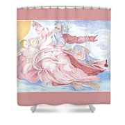 Separation Of The Planets Sistine Chapel Michelangelo Shower Curtain