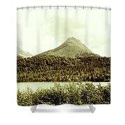 Sepia Alaska  Shower Curtain