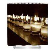 Sepia Candles Shower Curtain