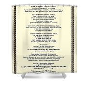 Sepia Chain Desiderata Poem Shower Curtain