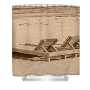 Sepia Chairs Shower Curtain