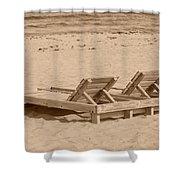 Sepia Chairs Shower Curtain