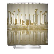 Sepia Columns Shower Curtain