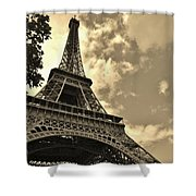 Sepia Eiffel Shower Curtain