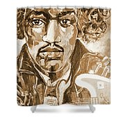 Sepia Jimi Shower Curtain