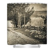 Sepia Road Shower Curtain