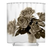 Sepia Roses Shower Curtain