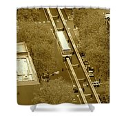 Sepia Seattle Shower Curtain