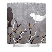 Sepia Simplicity Shower Curtain