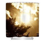 Sepia Sky Shower Curtain
