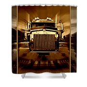 Sepia Toned Kenworth Abstract Shower Curtain