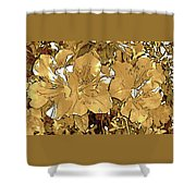 Sepia Toned Pink Bevy Of Beauties In Grayscale Too Shower Curtain