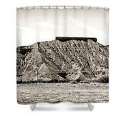 Sepia Tones Nature Landscape Nevada  Shower Curtain