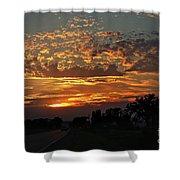 Sept Sunset Shower Curtain