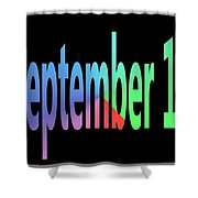 September 12 Shower Curtain