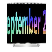 September 20 Shower Curtain