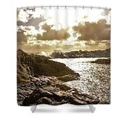 September Clouds Shower Curtain