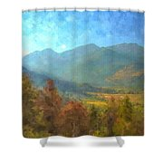 September In The Rockies Shower Curtain