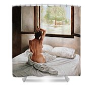 September Morning Shower Curtain by John Worthington
