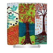 September October November Shower Curtain