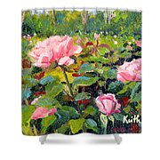September Roses Shower Curtain