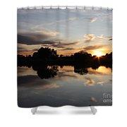 September Sunset In Prosser Shower Curtain