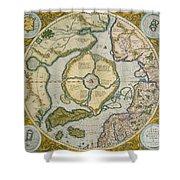 Septentrionalium Terrarum Descriptio Shower Curtain by Gerardus Mercator
