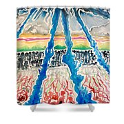 Sequential Development Of The Refugees  Shower Curtain