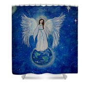 Seraphina Shower Curtain by The Art With A Heart By Charlotte Phillips