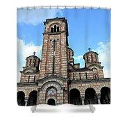 Serbian Orthodox Church Of Saint Mark Belgrade Serbia Shower Curtain