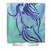 Serena Shower Curtain by Candace Shrope