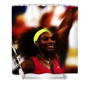 Serena Williams Another Record Set Shower Curtain