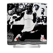 Serena Williams Victory Shower Curtain by Brian Reaves